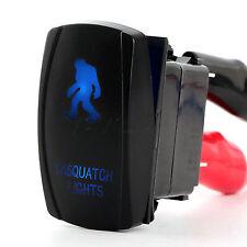 Blue Rocker Toggle Switch Sasquatch Lights Laser On-off Led Car Marine Stock Us