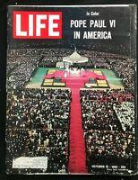 LIFE MAGAZINE - Oct 15 1965 - POPE PAUL VI IN AMERICA / Nuclear Testing / Draft