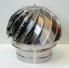 CHIMNEY SPINNER COWL Stainless Steel Wind Rotating Cap INOX to fit 8''/200mm