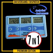 7-IN-1 MULTI METER TESTER EC CF TDS PH °C °F REDOX  3 LCD DISPLAYS 220V P15