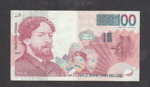 100 FRANCS VERY FINE BANKNOTE FROM BELGIUM 1995 PICK-147