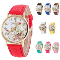 Casual Sports Women Girls Alloy Analog Leather Band Quality Wristwatches Cheap