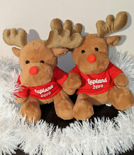 Personalised Reindeer Soft Plush Toy Lapland Reveal Mumbles Bear & Red T-Shirt