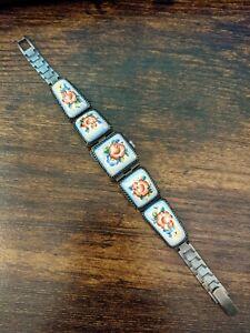 Works! 17 Jewel Vintage Mechanical Ceramic Bracelet Women's Watch чайка chaika