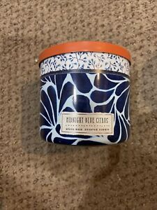 Bath & Body Works White Barn Midnight Blue Citrus Scented Candle 14.5 OZ 3 Wick