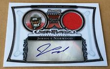 2006 Topps Bowman Sterling Football Jerious Norwood Jersey & Autograph Card