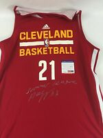 TIMBERWOLVES ANDREW WIGGINS GAME USED WORN SIGNED AUTO SUMMER LEAGUE UNIFORM PSA