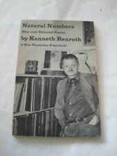 Signed! Kenneth Rexroth Natural Numbers New & Selected Poems New Directions Rare