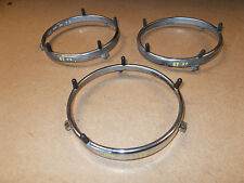 BMW E3 3.3L Headlight Set of 3 GLASS Holding Frames For Light Cleaning System