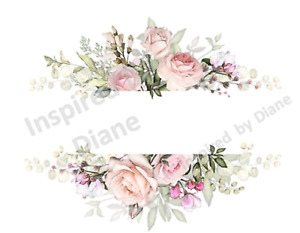 Furniture & Wall Sticker Decals Shabby Chic French Image Stickers Flowers 501