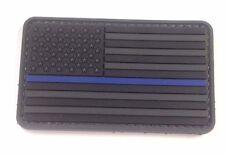 Blue Line Flag PVC Moral  Patch