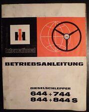 IHC Schlepper 644 + 744 + 844 + 844S Betriebsanleitung