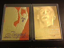 1996 KOBE BRYANT Feel The Game FLAIR 23K GOLD RC Away Court Purple Jerssy Card