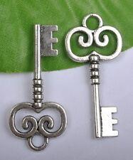 5pcs tibet silver nice key charms 42x19mm SH846