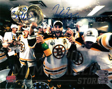 Patrice Bergeron Brad Marchand Boston Bruins Signed Stanley Cup LockerRoom 16x20