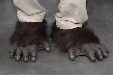 Gorilla Feet Great Ape Monkey Adult Shoe Covers Latex Halloween Costume