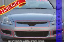 GTG 2003 - 2005 Honda Accord 2dr 4PC Gloss Black Combo Billet Grille Grill Kit