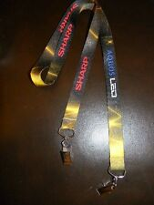 Sharp Aquos LED  Lanyard- logo on both sides- metal clip on each end-hold ID-HTF