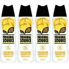 ORIGINAL SOURCE FOAMING SHOWER GEL PINEAPPLE NATURAL FRAGRANCE 4 X 180 ml