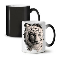 White Tiger Head NEW Colour Changing Tea Coffee Mug 11 oz | Wellcoda
