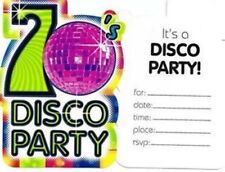 Disco 1970's Party Supplies 8 pcs. DISCO PARTY INVITE Groovy Nights 70's Decade