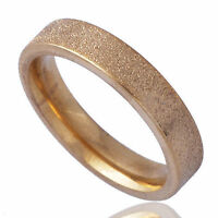 Dull polish yellow Gold Filled Womens Unisex Band Promise Mood Ring Size 7