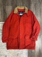 Vintage Polo Ralph Lauren Plaid Wool Hunting Jacket Mens Size M Coat