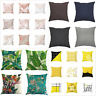 New Pineapple Leaf Yellow Pillow Case Sofa Waist Throw Cushion Cover Home Decor