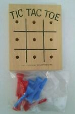 Colored Golf Tee Tic Tac Toe wooden Peg Game