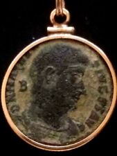 Magnentius Large 23mm Authentic Ancient Roman Coin Gold-Filled Pendant Necklace