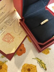 Cartier Love 18k Rose Gold Band Ring Size 52/US