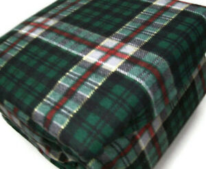 Home Collection Cooper Hunter Green Holiday Plaid Cotton Flannel Queen Sheet Set