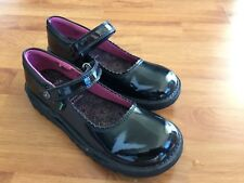 Kickers Kick Bar Patent Strap Shoe Girls Women's Size Uk 3