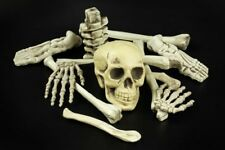 Deko Knochen 12-tlg. Skelett Totenkopf Halloween Party Dekoration Horror