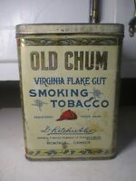 Vintage OLD CHUM Tobacco Tin Advertising GREAT GRAPHICS