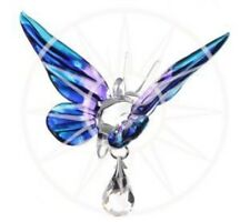 Handmade Fantasy Glass Butterfly Suncatcher Gift Purple Emperor