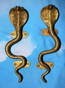 Brass Yellow Rat Snake Handle Handmade Finished Restaurant Bar Door Handle MD2