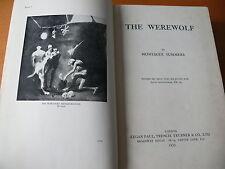 The Werewolf.  Montague Summers.  1933.  1st Edition.