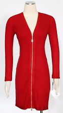 CALVIN KLEIN Red Sz PS Women's Cocktail Sweater Dress $134 New