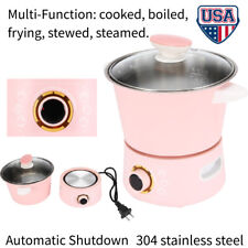 Multi-function Stainless Steel Mini Cooking Pot Electric Steamer Cooker Boiler W