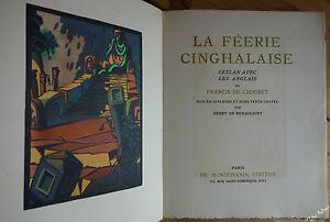 CROISSET La féerie cinghalaise Ceylan Bois en couleurs de RENAUCOURT 1ère ed ill