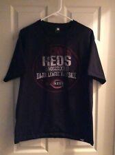 Cincinnati Reds Distressed Team Black T-Shirt MLB Size Large