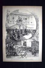 Roma - Estrazione della Tombola telegrafica per gli inondati Incisione del 1882