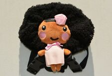 Handcrafted, Super Cute Black/ African American Backpack Doll (Pink)