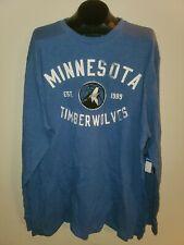 Minnesota Timberwolves Sz 5X Blue Long Sleeve Shirt NEW NWT   SPT353