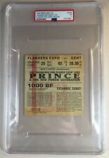 1992 Prince Diamonds And Pearls Tour Ticket Ghent Belgium PSA 1