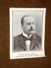 Paolo Emilio Bensa nel 1908 Professore all'Università di Genova