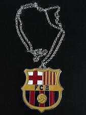 Brand New 2016 FC Barcelona Soccer Football Logo Zinc Alloy Necklace Pendant
