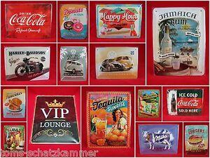 Blechschild verschiedene Motive 15x20 Nostalgic Art Retro Vintage Werbung Schild