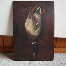 Antique Victorian Oil Painting Museum Quality Sill Life Duck Signed by Artist
